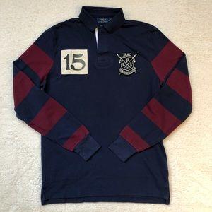 POLO RALPH LAUREN Striped Long Sleeve Rugby Shirt